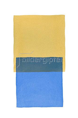 Werner Maier: Abstraktes Aquarell Ocker Blau