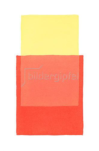 Werner Maier: Abstraktes Aquarell Gelb Rot