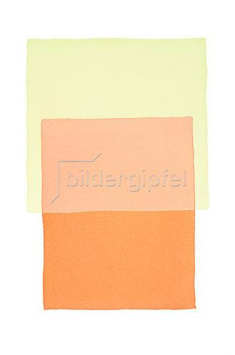 Werner Maier: Abstraktes Aquarell Orange Gelb