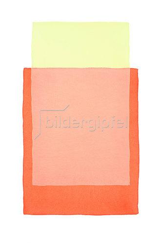 Werner Maier: Abstraktes Aquarell  Gelb Orange