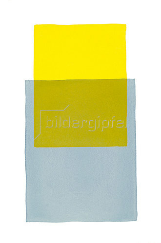 Werner Maier: Abstraktes Aquarell Blau Gelb