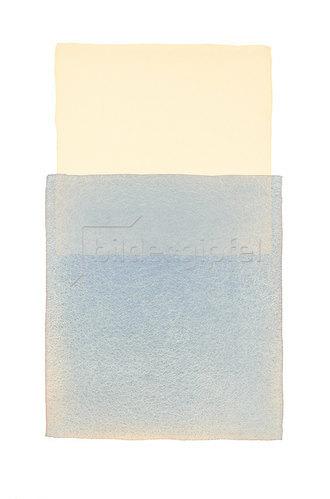 Werner Maier: Abstraktes Aquarell Beige Blau_2