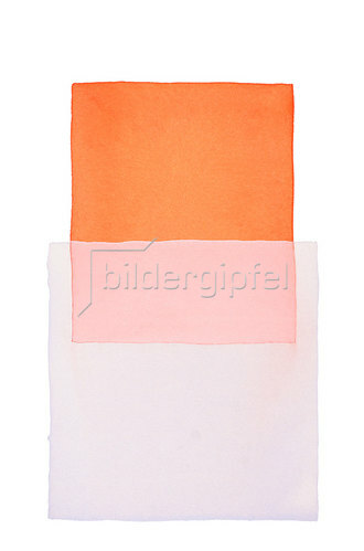 Werner Maier: Abstraktes Aquarell Orange Hellblau - Original