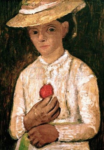 Paula Modersohn-Becker: Self-portrait with red rose, 1905