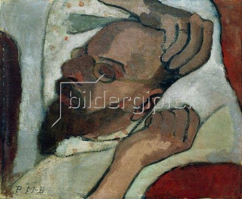 Paula Modersohn-Becker: Otto Modersohn schlafend, 1906
