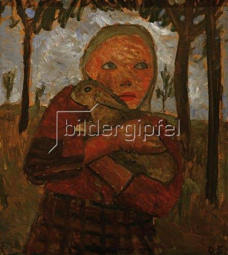Paula Modersohn-Becker: Mädchen mit Kaninchen, 1905