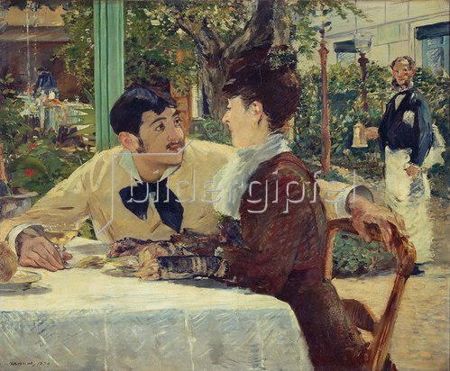 Edouard Manet: Paar bei Pere Lathuille. 1879.