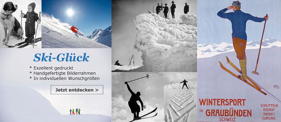 Skifahren heute und anno dazumal