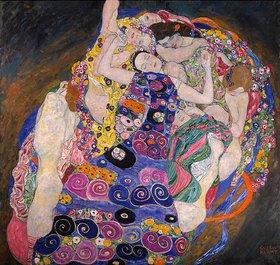 Gustav Klimt: Die Jungfrau 190 x 200 cm. Öl auf Leinwand