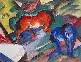 Franz Marc: Rotes und blaues Pferd
