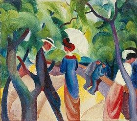 August Macke: Promenade. 1913
