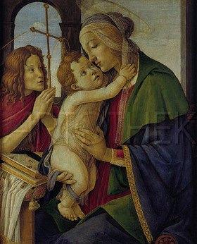 Sandro Botticelli: Maria mit dem Jesuskind und dem jungen Johannes d.T