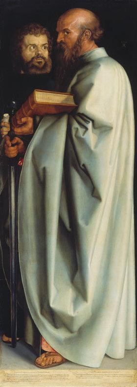 Albrecht Dürer: Die Apostel Paulus und Markus. (Rechte Tafel Die vier Apostel)