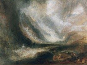 Joseph Mallord William Turner: Schneesturm, Lawine und Überschwemmung im Aosta-Tal