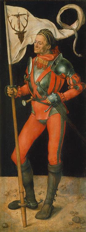 Albrecht Dürer: Paumgartner Altar. Rechter Flügel: Der hl. Eustachius
