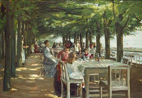 Max Liebermann: Terrasse des Restaurants Jacob in Nienstedten an der Elbe