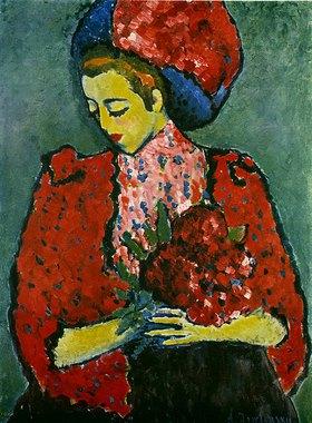 Alexej von Jawlensky: Girl with peonies