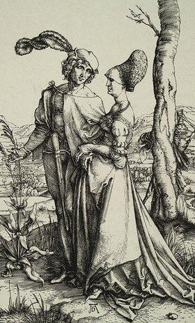 Albrecht Dürer: Edelmann und Dame beim Spaziergang
