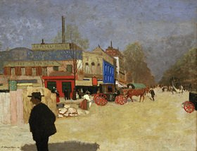 Felix Vallotton: Der Place Clichy in Paris