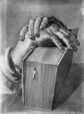 Albrecht Dürer: Study of hands with a book