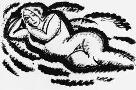 Alexej von Jawlensky: Nude lying