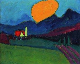 Alexej von Jawlensky: Murnau - Landschaft orange Wolke