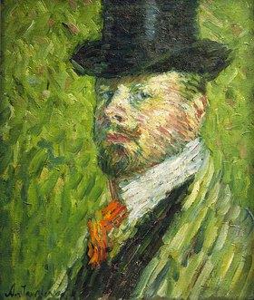 Alexej von Jawlensky: Self-portrait with top hat