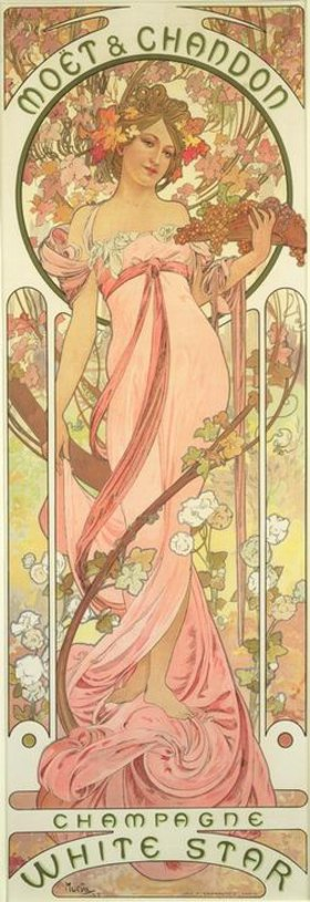 Alfons Mucha: Moet & Chandon / Champagne White Star