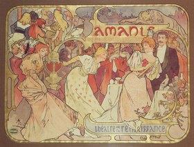 Alfons Mucha: Amants, Théâtre de la Renaissance Paris