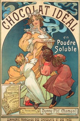 Alfons Mucha: Chocolat Idéal en Poudre Soluble