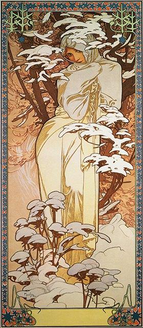 Alfons Mucha: Jahreszeiten: Der Winter