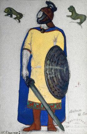 Nikolai Konstantinow Roerich: Figurine, Bühnenbild, Tristan und Isolde