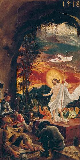 Albrecht Altdorfer: Die Auferstehung Christi um 1515. Predella des Flügelaltars in St. Florian