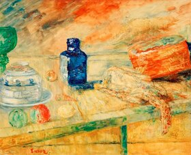 James Ensor: Der blaue Flacon
