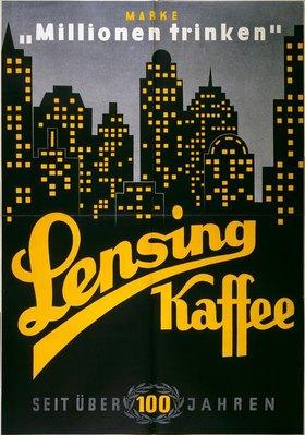 Lensing Kaffee / Plakat