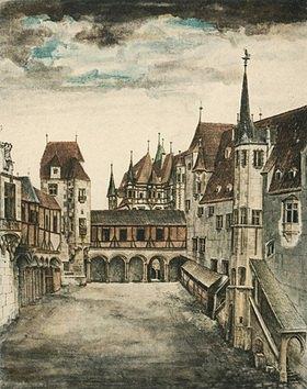 Albrecht Dürer: Der Hof des alten Schlosses zu Innsbruck