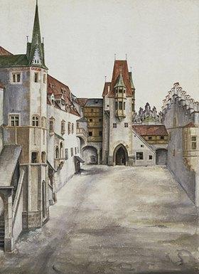 Albrecht Dürer: Hof der Burg zu Innsbruck (Courtyard of Innsbruck castle)