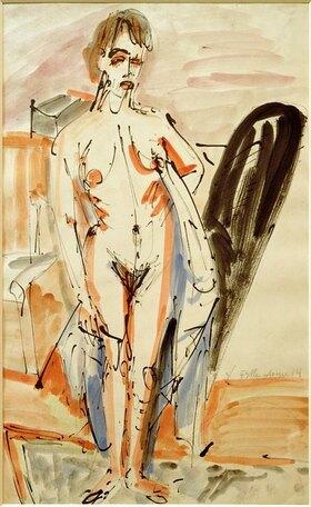 Ernst Ludwig Kirchner: Stehender Akt (Stehende nackte Frau)
