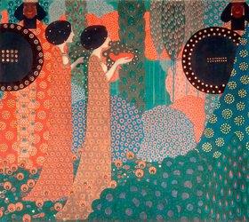 Vittorio Zecchin: Die Prinzessinnen und die Krieger (Aus Tausendundeine Nacht)