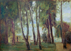 Max Liebermann: Der Garten des Künstlers in Berlin- Wannsee, im Hintergrund