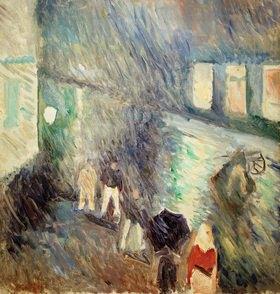 Edvard Munch: Regenwetter bei Kristiania