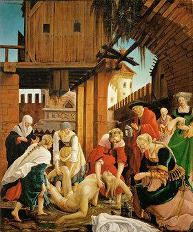 Albrecht Altdorfer: Bergung des toten hl. Sebastian aus der Kloake durch die Witwe Lucina