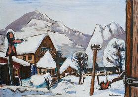 Max Beckmann: Schneelandschaft Garmisch