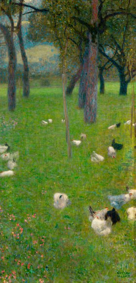 Gustav Klimt: Nach dem Regen, Gustav Klimt, Oel auf Leinwand 1899.                 Wien, Oesterreichische Galerie im Belvedere