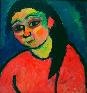 Alexej von Jawlensky: Woman with red blouse
