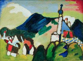 Studie für Murnau mit Kirche II