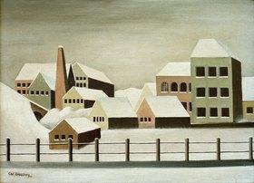 Carl Grossberg: Fabriklandschaft im Schnee