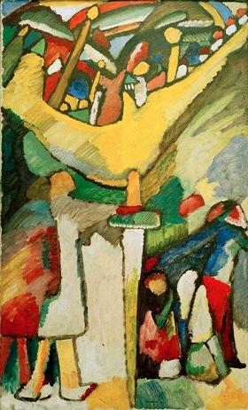 Wassily Kandinsky: Improvisation 8, 1909.