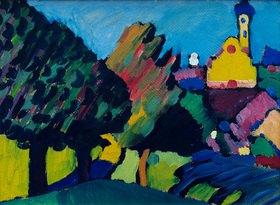 Wassily Kandinsky: Murnau, Herbstliche Landschaft mit Kirche