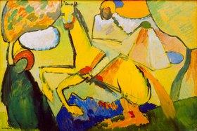 Wassily Kandinsky: Skizze (Reiter), 1909. (Der Heilige Martin von Tours und der Bettler)